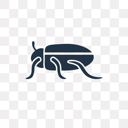 Beetle vector icon isolated on transparent background, Beetle transparency concept can be used web and mobile