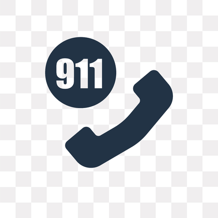 911 vector icon isolated on transparent background, 911 transparency concept can be used web and mobile