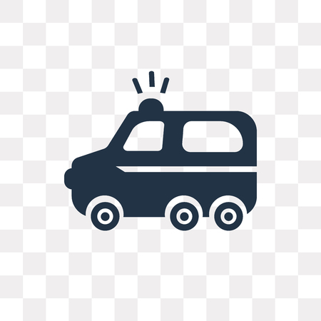Emergency Truck vector icon isolated on transparent background, Emergency Truck transparency concept can be used web and mobile