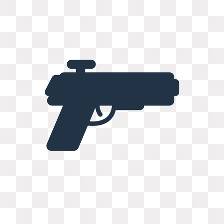 Pistol vector icon isolated on transparent background, Pistol transparency concept can be used web and mobile Stock Vector - 113219064