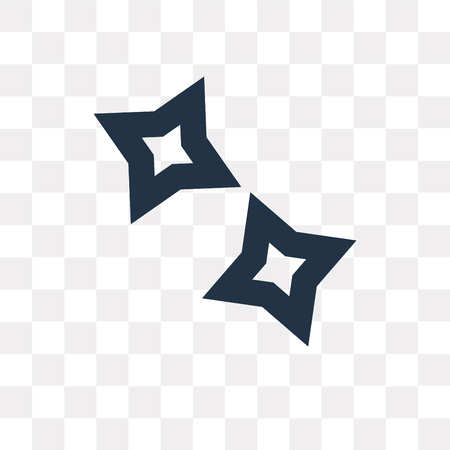 Shuriken vector icon isolated on transparent background, Shuriken transparency concept can be used web and mobile Ilustrace