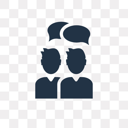 People vector icon isolated on transparent background, People transparency concept can be used web and mobile Ilustração