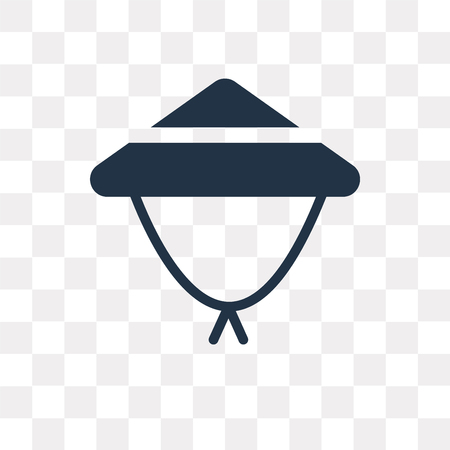 Bamboo hat vector icon isolated on transparent background, Bamboo hat transparency concept can be used web and mobile