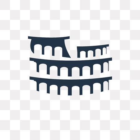 Colosseum vector icon isolated on transparent background, Colosseum transparency concept can be used web and mobile Stock Vector - 111615286