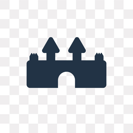 Castle vector icon isolated on transparent background, Castle transparency concept can be used web and mobile