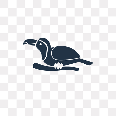 Toucan vector icon isolated on transparent background, Toucan transparency concept can be used web and mobile