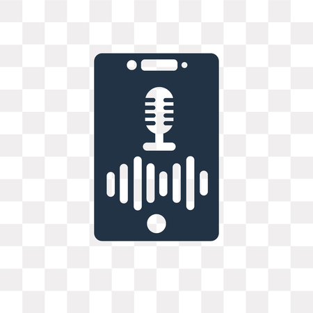 Voice control vector icon isolated on transparent background, Voice control transparency concept can be used web and mobile