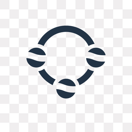 Icono de vector colgante aislado sobre fondo transparente, concepto de transparencia colgante puede ser usado de la web y móvil