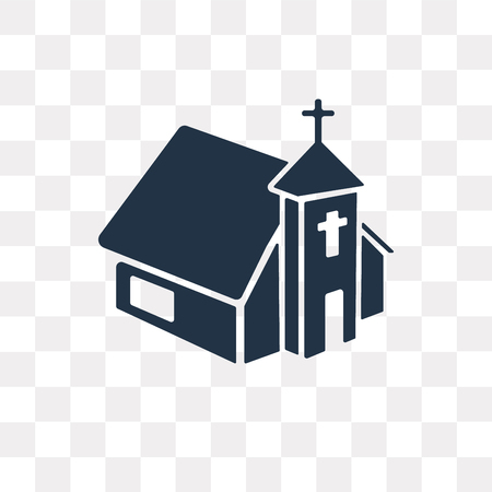Church vector icon isolated on transparent background, Church transparency concept can be used web and mobile