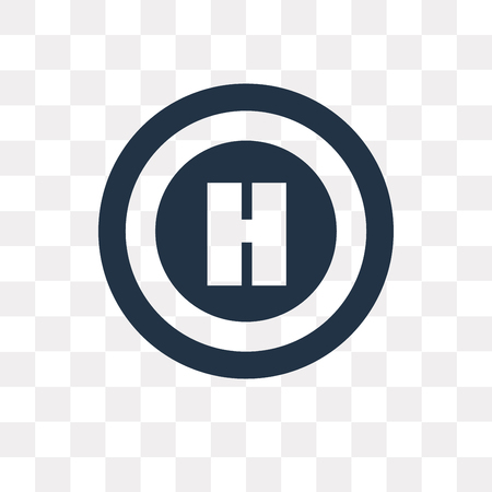 Helipad vector icon isolated on transparent background, Helipad transparency concept can be used web and mobile