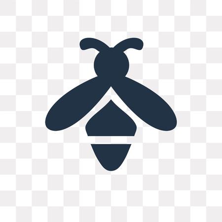 Icône de vecteur d'abeille isolé sur fond transparent, la notion de transparence abeille peut être utilisé web et mobile Vecteurs