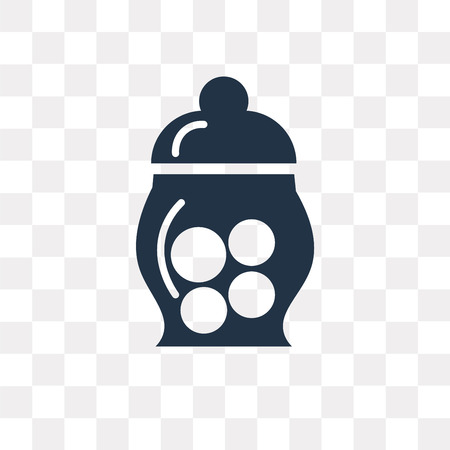Jar Full of Food vector icon isolated on transparent background, Jar Full of Food transparency concept can be used web and mobile Illustration