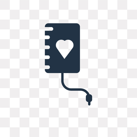 Blood Donation vector icon isolated on transparent background, Blood Donation transparency concept can be used web and mobile Illustration