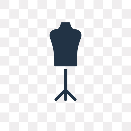 Mannequin vector icon isolated on transparent background, Mannequin transparency concept can be used web and mobile Illustration