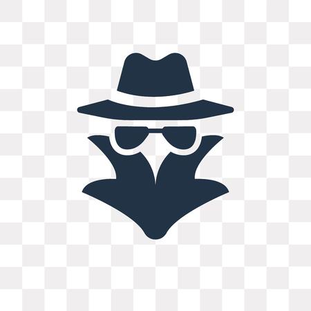 Icono de vector de espía aislado sobre fondo transparente, concepto de transparencia de espía puede ser usado de la web y móvil