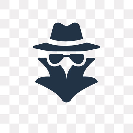 Spy vector icon isolated on transparent background, Spy transparency concept can be used web and mobile