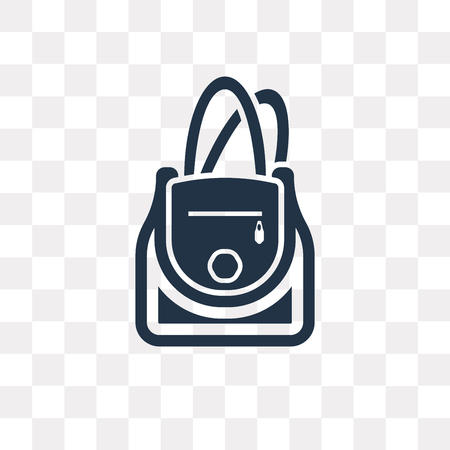 Bucket Bag vector icon isolated on transparent background, Bucket Bag transparency concept can be used web and mobile