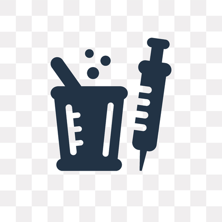 Syringe vector icon isolated on transparent background, Syringe transparency concept can be used web and mobile