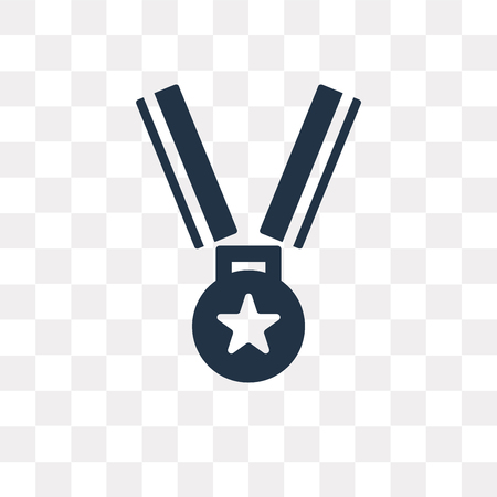 Medal vector icon isolated on transparent background, Medal transparency concept can be used web and mobile Иллюстрация