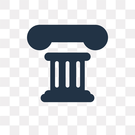 Theatre Pillar vector icon isolated on transparent background, Theatre Pillar transparency concept can be used web and mobile