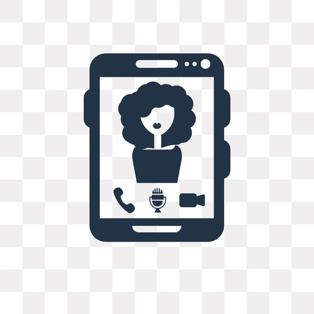 Video Chat vector icon isolated on transparent background, Video Chat transparency concept can be used web and mobile