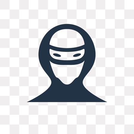 Hacker vector icon isolated on transparent background, Hacker transparency concept can be used web and mobile