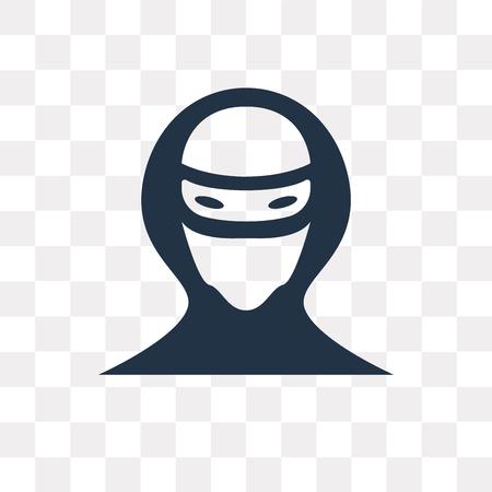 Icône de vecteur de pirate isolé sur fond transparent, la notion de transparence de pirate peut être utilisé web et mobile