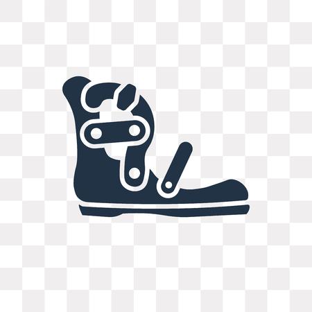 Gladiator Sandal wektor ikona na białym tle na przezroczystym tle, koncepcja przezroczystości Gladiator Sandal może być używana w Internecie i na urządzeniach mobilnych