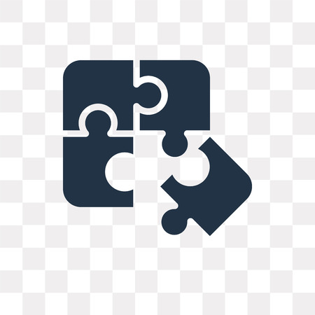 Puzzle vector icon isolated on transparent background, Puzzle transparency concept can be used web and mobile Vector Illustration