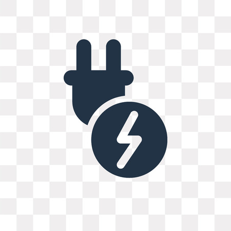 Plug vector icon isolated on transparent background, Plug transparency concept can be used web and mobile