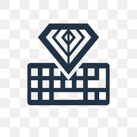 Keyboard vector icon isolated on transparent background, Keyboard transparency concept can be used web and mobile