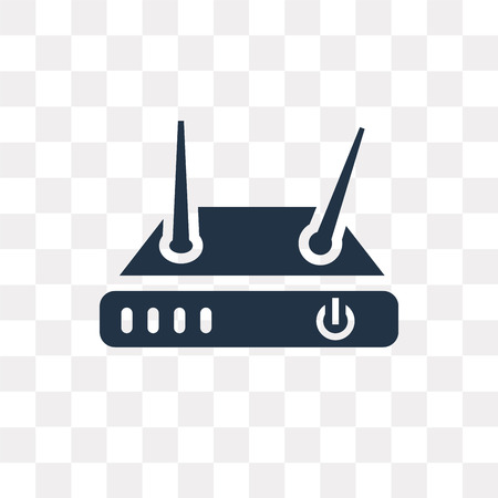 Modem vector icon isolated on transparent background, Modem transparency concept can be used web and mobile Illustration