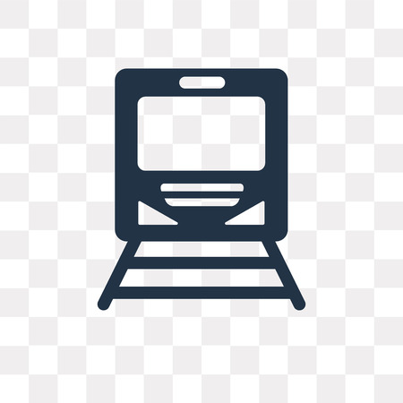 Subway vector icon isolated on transparent background, Subway transparency concept can be used web and mobile