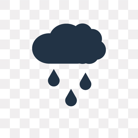 Rain vector icon isolated on transparent background, Rain transparency concept can be used web and mobile