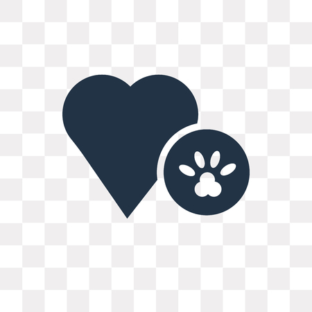 Dog Pawprint vector icon isolated on transparent background, Dog Pawprint transparency concept can be used web and mobile Illustration