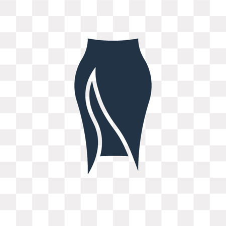 Slit Skirt vector icon isolated on transparent background, Slit Skirt transparency concept can be used web and mobile