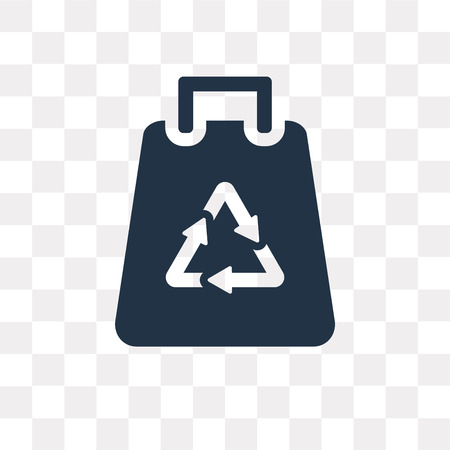 Recycled bag vector icon isolated on transparent background, Recycled bag transparency concept can be used web and mobile  イラスト・ベクター素材
