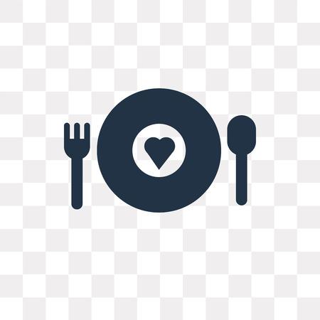 Icono de vector de comida de caridad aislado sobre fondo transparente, concepto de transparencia de comida de caridad puede ser usado de la web y móvil Ilustración de vector