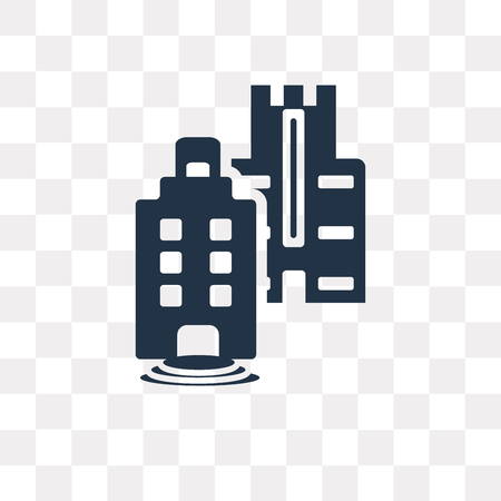 Skyline vector icon isolated on transparent background, Skyline transparency concept can be used web and mobile Illustration