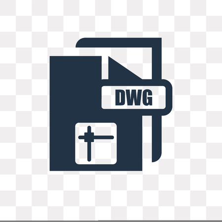 Dwg vector icon isolated on transparent background, Dwg transparency concept can be used web and mobile