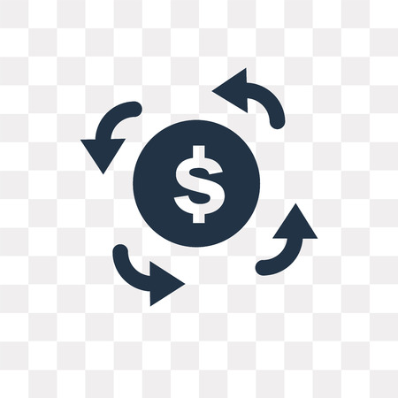 Refund vector icon isolated on transparent background, Refund transparency concept can be used web and mobile