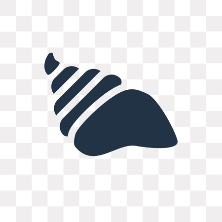 Conch shell vector icon isolated on transparent background, Conch shell transparency concept can be used web and mobile