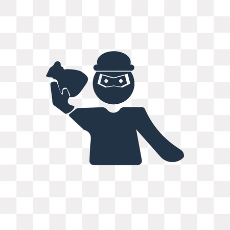 Robbery vector icon isolated on transparent background, Robbery transparency concept can be used web and mobile Illustration