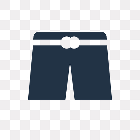 Underwear vector icon isolated on transparent background, Underwear transparency concept can be used web and mobile