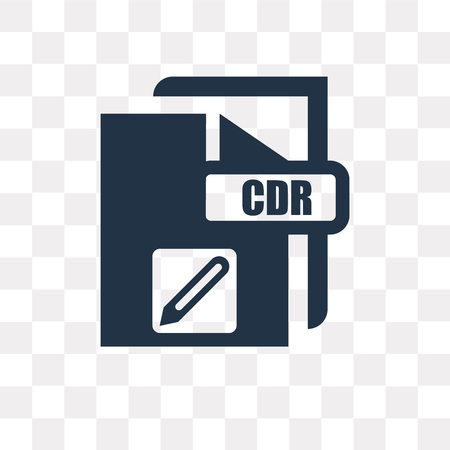 Cdr vector icon isolated on transparent background, Cdr transparency concept can be used web and mobile