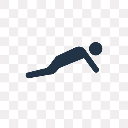 Pushups Exercises vector icon isolated on transparent background, Pushups Exercises transparency concept can be used web and mobile