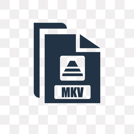 Mkv vector icon isolated on transparent background, Mkv transparency concept can be used web and mobile