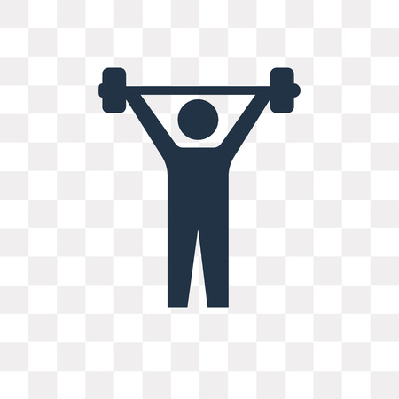Lifting Barbell vector icon isolated on transparent background, Lifting Barbell transparency concept can be used web and mobile