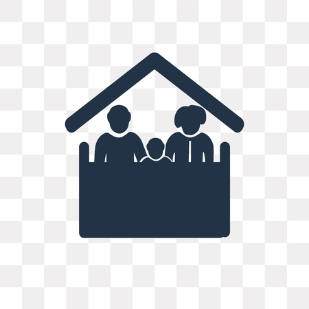 Family vector icon isolated on transparent background, Family transparency concept can be used web and mobile
