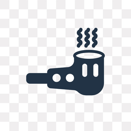 Smoking pipe vector icon isolated on transparent background, Smoking pipe transparency concept can be used web and mobile